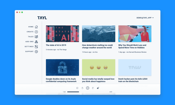 tayl.app - Websites to podcast
