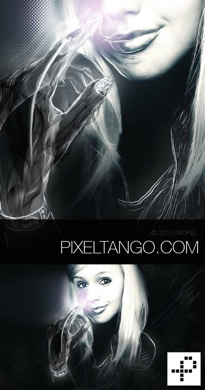 Abstract digital art photo manipulation of a girl